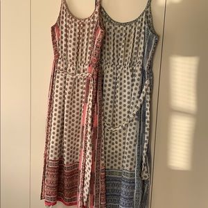 GAP set of two floral maxi dresses